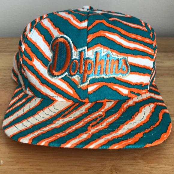 4a08ee8b Vintage Zubaz Miami Dolphins Hat
